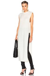 Alexander Wang T By Cashmere Mock Neck Sweater In White