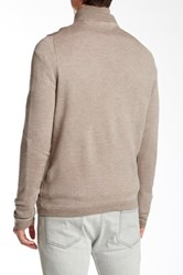 Toscano Partial Zip Merino Wool Blend Pullover Sweater