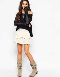 Pepe Jeans Tiered Mini Skirt White
