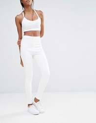 Missguided Vice High Waist Super Skinny Jean White