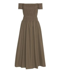 Fendi Cotton Dress Brown