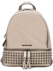 Michael Michael Kors 'Rhea' Backpack Nude And Neutrals