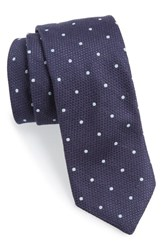 Men's Todd Snyder White Label Cotton Silk And Cashmere Tie Navy