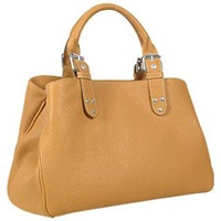 Fontanelli Soft Calf Leather Satchel Bag Camel