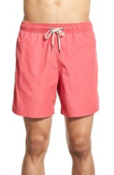 Men's Faherty Recycled Fabric Swim Trunks Bright Red