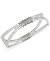 Robert Lee Morris Soho Silver Tone Wire Wrapped Openwork Bangle Bracelet