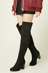 Forever 21 Over The Knee Faux Suede Boots