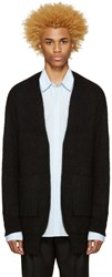 Undecorated Man Black Mohair Cardigan