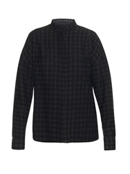 Haider Ackermann Oversized Checked Wool And Linen Blend Shirt