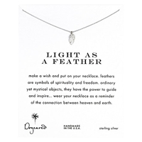 Dogeared Sterling Silver Light As A Feather Reminder Necklace Silver