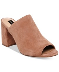 Steve Madden Steven By Women's Fume Peep Toe Mules Women's Shoes Tan Suede