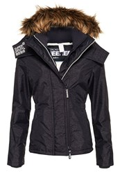Superdry Hooded Fur Sherpa Wind Attacker Grey