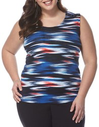 Rafaella Plus Shades Of Glory Tank Top Blue Multi