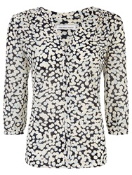 Fenn Wright Manson Lily Print Blouse Black White