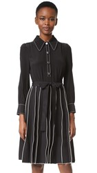 Marc Jacobs Paneled A Line Dress Black