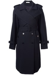 J.W.Anderson Double Breasted Trench Coat Blue