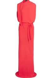 Maria Grachvogel Kosuke Draped Crepe Gown Bubblegum