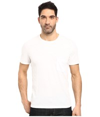 7 For All Mankind Short Sleeve Raw Pocket Crew White Men's Clothing