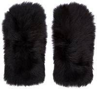 Marc By Marc Jacobs Black Shearling Gorilla Gloves