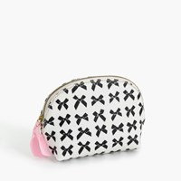 J.Crew Bow Print Coated Canvas Makeup Pouch