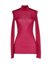 Suoli Knitwear Turtlenecks Women Fuchsia