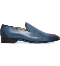 Sutor Mantellassi Lieto Leather Loafers Blue