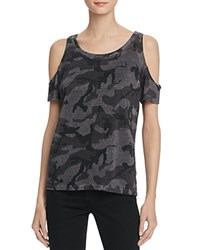 Generation Love Amber Camo Cold Shoulder Tee Charcoal Camo