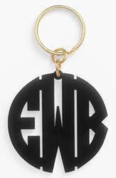 Women's Moon And Lola Personalized Monogram Key Chain Black