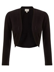 East Edge To Edge Cover Up Cropped Cardigan Black