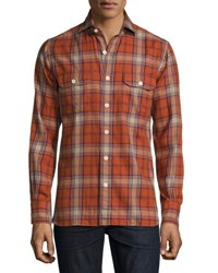 Tom Ford Flannel Check Shirt Red