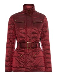 Barbour International Broton Quilted Jacket Red