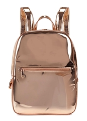 Dkny Rose Gold Leather Backpack