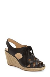 Women's Bella Vita 'Gracia' Espadrille Sandal Black Leather