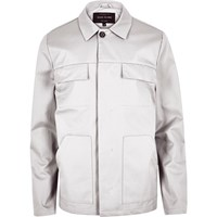 River Island Mens Light Grey Casual Jacket