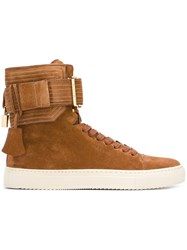 Buscemi Ankle Strap Hi Tops Nude And Neutrals