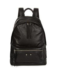 Balenciaga Leather Backpack Black