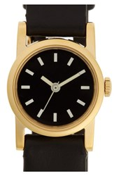 Steven Alan Women's Round Leather Strap Watch 20Mm Black Black