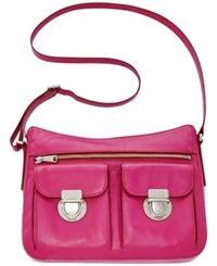 Fossil Riley Leather Hobo Fuchsia