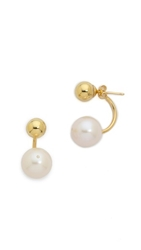 Kacey K Cultured Freshwater Pearl And Ball Earrings Gold Pearl