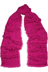 Marc By Marc Jacobs Dynamite Logo Printed Modal Scarf