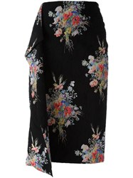 N 21 No21 Floral Print Mid Skirt Black