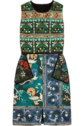 Burberry Embroidered Printed Cotton Blend Dress