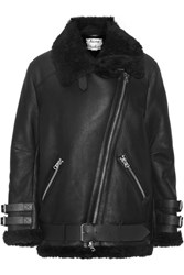 Acne Studios Velocite Shearling Jacket Black
