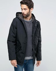 Only And Sons Quilter Parka With Fishtail Black