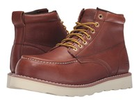 Skechers Pettus Graford Red Brown Pitstop Leather Men's Work Boots