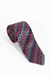 Missoni Men S Woven Diagonal Tie Boutique1 Blue