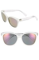 Women's Marc By Marc Jacobs 55Mm Retro Sunglasses Crystal White
