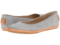 Frye Tegan Ballet Ice Buffed Nubuck Women's Shoes Gray
