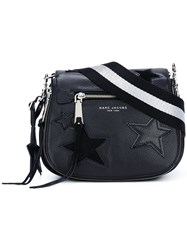 Marc Jacobs Small 'Star Patchwork' Saddle Crossbody Bag Black