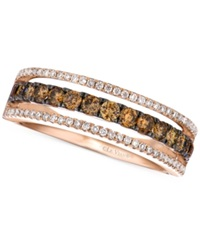 Le Vian Chocolate And White Diamond Channel Band In 14K Rose Gold 5 8 Ct. T.W.